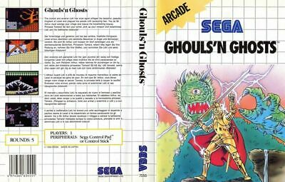 Ghouls n Ghosts Sega Master System Replacement Box Art Case Insert Cover Scan