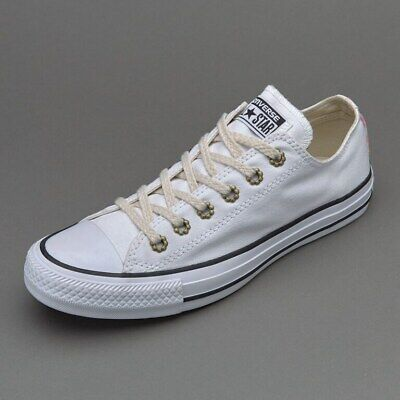 Converse Womens Girls All Star Chuck Taylor OX Trainers 555884C White UK 3 to 7