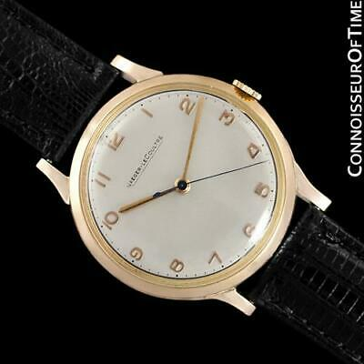 1950 JAEGER-LECOULTRE Vintage Mens 18K Rose Gold Watch - Minty with Warranty