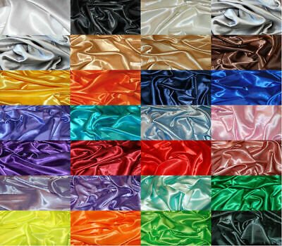 Silky Satin Dress Craft Fabric Plain Luxury Wedding Material 150cm Wide