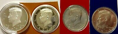 2019  4 COIN   Kennedy  HALF DOLLAR COLLECTION P, D, S and SILVER HALF Dollars