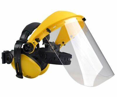 Oregon safety visor with ear defenders clear poly