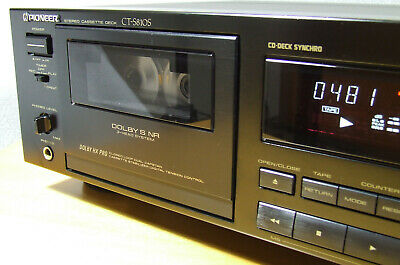 PIONEER CT-S810S DUAL-CAPSTAN, DOLBY B; C & S with NEW BELTS and IDLER, REVISED