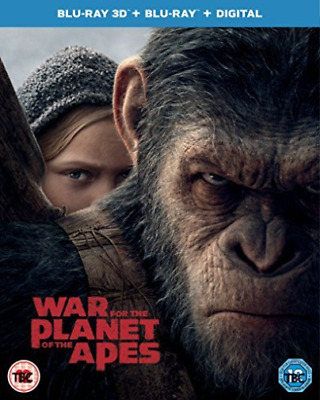 War For The Planet Of The Apes 3D BLU-RAY NEW