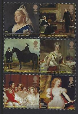 Great Britain 2019 Queen Victoria Set Of 6 In Pairs Unmounted Mint,Mnh