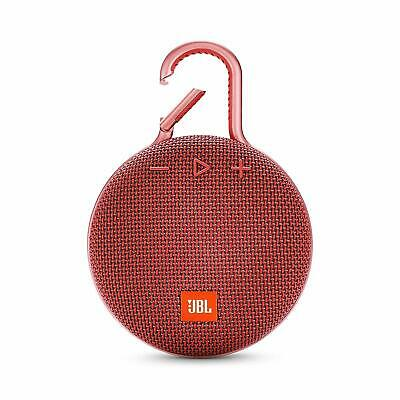 JBL Clip 3 Portable Waterproof Wireless Bluetooth Speaker (Red)