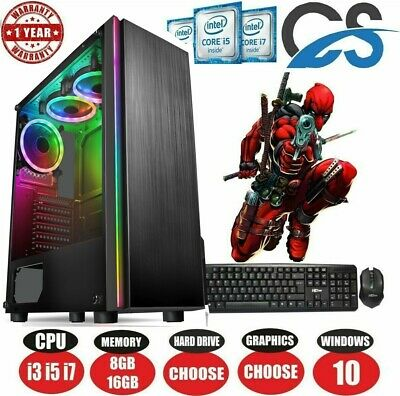 ULTRA FAST i3 i5 i7 Desktop Computer Gaming PC 1TB 16GB RAM GTX 1660 Windows 10