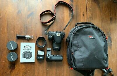 Canon EOS Rebel T5i / EOS 700D 18.0MP Digital SLR Camera - Black w/ accessories