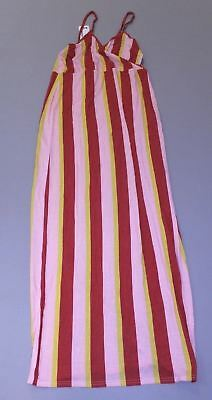 080219496b74 Boohoo Women's Maternity Stripe Wrap Front Maxi Dress SV3 Pink Size US:12  NWT