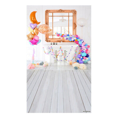 Andoer 1.5 * 0.9m/5 * 3ft Birthday Party Photography Background Balloon L3H7