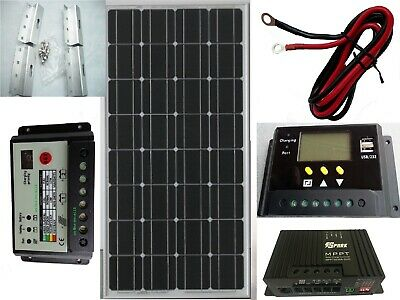 100W Solar Panel kit 12V battery Charge 20A Controller Caravan Boat Home RV MPPT