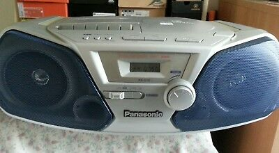 Panasonic RX-D10 AM FM Tape Cassette Boombox CD not working runs on batteries