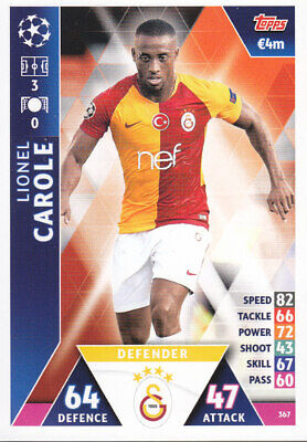 TOPPS MATCH ATTAX CL 2018-19 - Lionel Carole - Galatasaray - 367