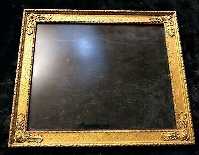 Hand Carved wood Ornate Picture Frame gilded Lemon Gold