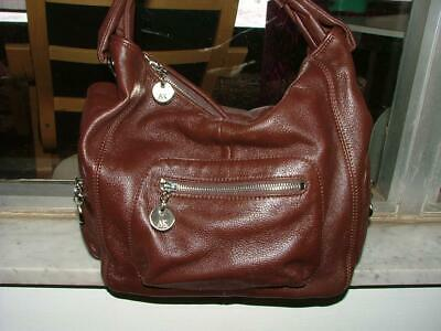 Anne Klein pretty soft & supple leather Multi-pocket! Zippers! Lg Hobo w/issue
