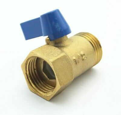 """1/2"""" BSP Brass Ball Valve Male to Female Pipe Fitting with Red Lever Handle F-M"""