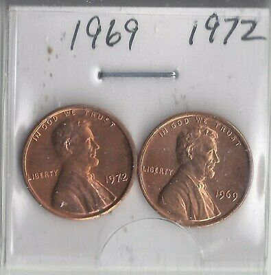 USA • 1969p, 1972p • Lincoln Head Cent Proofs •