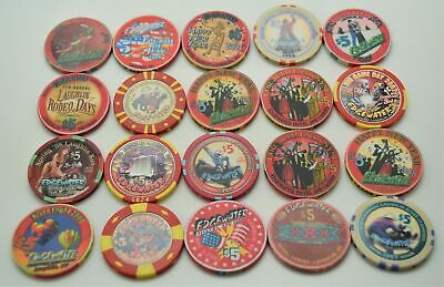 20 Different $5 Casino Chips From Edgewater Casino Laughlin Nevada