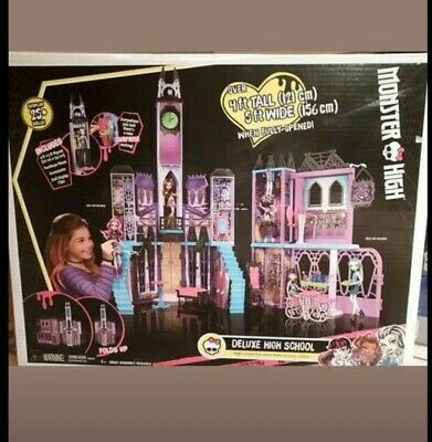 Monster High Deluxe High School dollhouse 4 ft tall doll playset ghouls