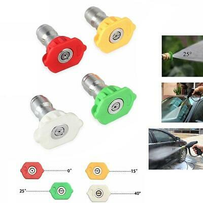 HIGH PRESSURE Quick Connect Power Washer Spray Nozzle Tips Variety Degrees Hot