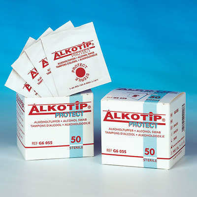Protect Tamponi Alcool Sterile Alkoholpads Alkoholtücher Disinfettante