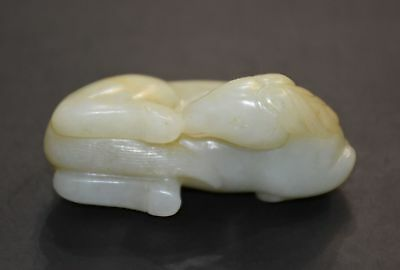Finely Chinese Qing Dy Old Nephrite Jade Carved Horse (Ma Shang Fan Shen)