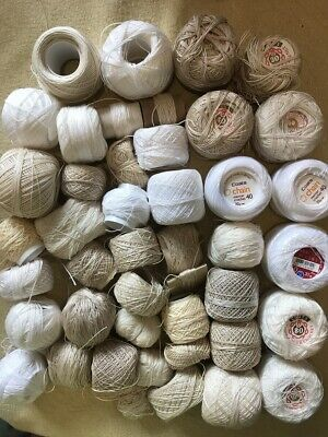 Coats Chain Cotton Crochet Art Craft mixed lot VINTAGE AS IS