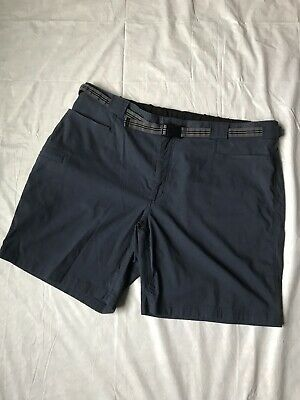"e7574ec1bc Duluth Trading 2XL Dry on the Fly Mens Nylon Belted Cargo Shorts 9"" Navy  Blue"
