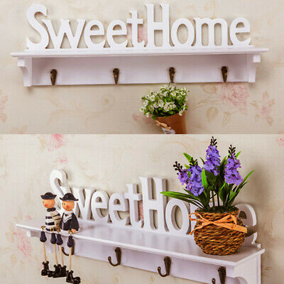 SWEET HOME Wall Shelves Storage Display Shabby Chic Filigree Style Shelf White