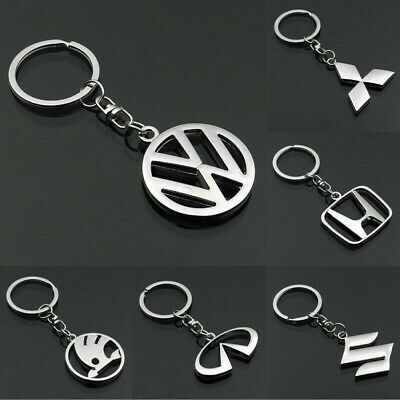 3D Metal Key Chain Key Ring car logo Keychain pendant Key Holder for VW BMW Audi