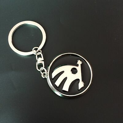 New 3D Metal Key Chain Key Ring car logo Keychain pendant Key Holder for Skoda