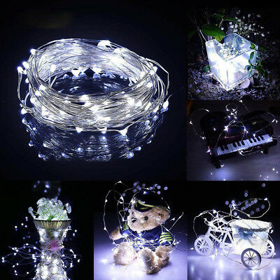 4M 40 LEDs Battery Operated Mini LED Copper Wire String Fairy Lights Wedding  CA