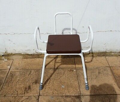 SOLID AND STURDY ADJUSTABLE HEIGHT DISABLED BATHROOM STOOL 165 Kg.