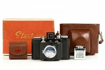 Ikkosha Start 35 Bakelite Subminiature Camera w/Finder,Case, Box from Japan