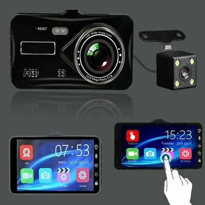 """In Car Camera Recorder Dual Front and Rear HD 1080P 4"""" Dash Cam Night Vision UK"""