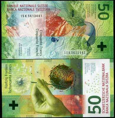 Switzerland 50 Francs 2016 P 77 Hybrid Unc