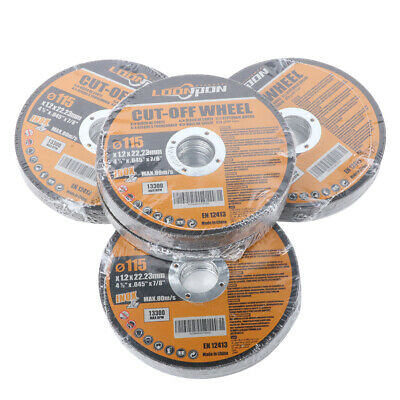 """4.5"""" 115mm Resin Cutting Disc Grinding Metal Cut Off Wheel Set for Angle Grinder"""