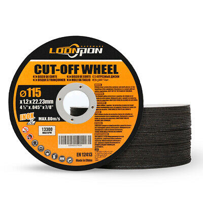 """115mm 4.5"""" Resin Cutting Disc Metal Cut Off Blade for Angle Grinder 7/8"""" Bore"""