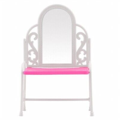 2X(Dressing Table&Chair Accessories Set For Barbies Dolls Bedroom Furniture C6R2