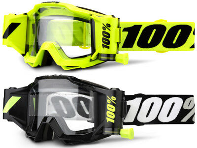 New 2019 100% Accuri Forecast Roll Off MX Motocross goggles