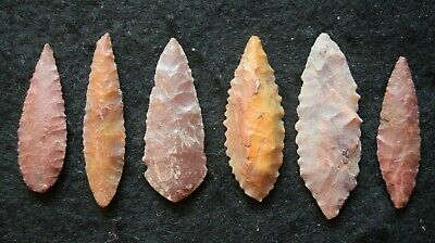 6 good Sahara Neolithic ovate tools, some color