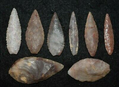 8 good Sahara Neolithic ovate tools, some color