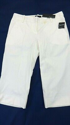 $54 Nwt The Limited Womens White Cassidy Fit Capri Casual Pants Size 2