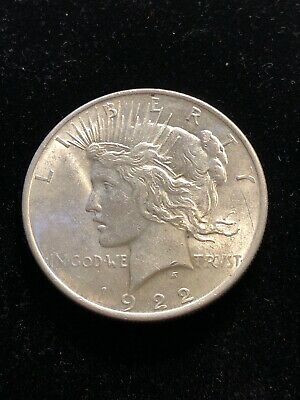 BU 1922 Peace Silver Dollar Uncirculated Philadelphia Mint (m.rm.tb)