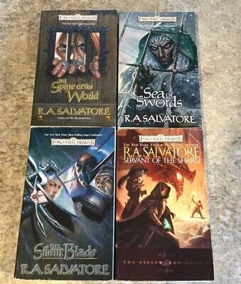 R A SALVATORE Paths of Darkness Forgotten Realms 4 Books Dungeons