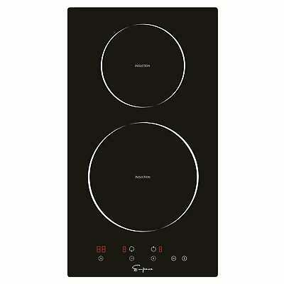 """Empava 12"""" 2 Burners Tempered Glass Electric Induction Cooktop"""