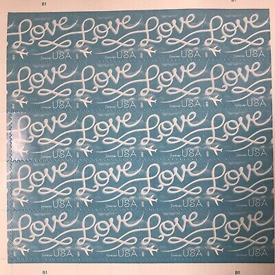 20 USPS 2017 Love Skywriting Forever Stamps. First Class Postage Stamp
