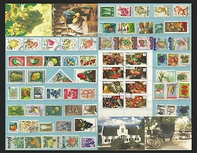 Thematical Fruits & Vegetables Used Stamps + Complete Set Unused Postcards 0014