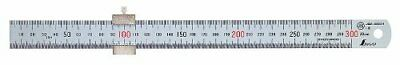New SHINWA 30cm 300mm Stainless Steel Mini Ruler Scale with Stopper for Work JPN