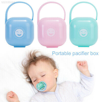 8570 Healthy Pink/Blue/Green Outdoor Kids Pacifier Nipple Travel Storage Box PP